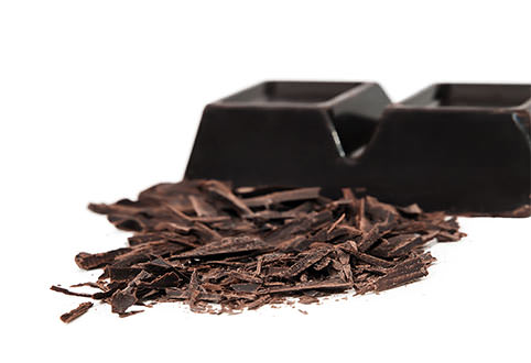 Dark chocolate and trimmings