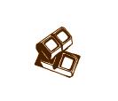 Art design of chocolate pieces
