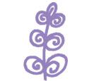 Purple circular spiralising lavender flower art design