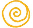 yellow circular spirilising art design