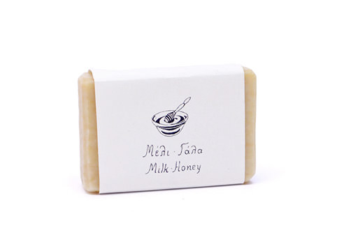 Milk-Honey soap, pocket size.